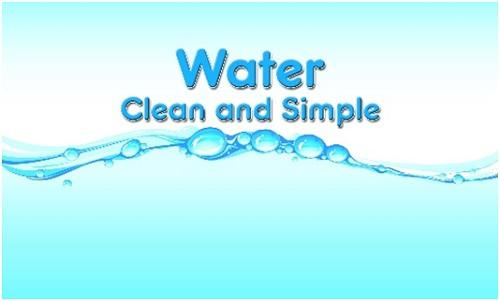 water clean and simple
