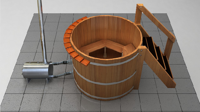 6 Person Wood Fired Hot Tub - Wood Water Stoves