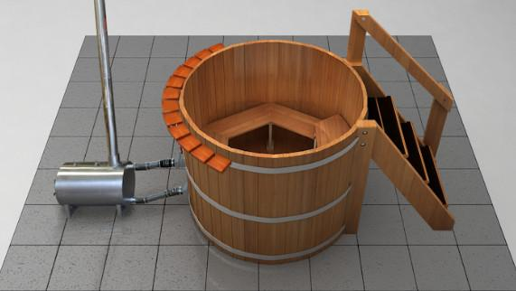 4 Person Wood Fired Hot Tub Wood Water Stoves