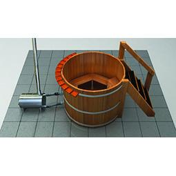 4 Person Wood Fired Hot Tub - Wood Water Stoves