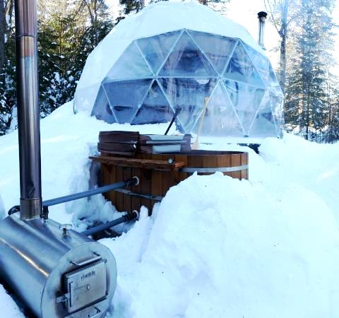 Using A Wood Fired Hot Tub Heater In Winter