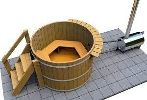 4 Person Wood Fired Hot Tub