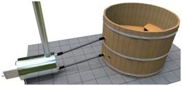 Example of External Wood Hot Tub Heater